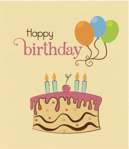 Happy Birthday lettering party design Vector  Free Download